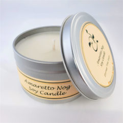 Amaretto Not Soy Candle Open