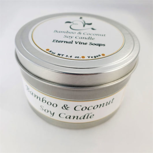 Bamboo and Coconut Soy Candle Closed