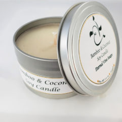 Bamboo and Coconut Soy Candle Open