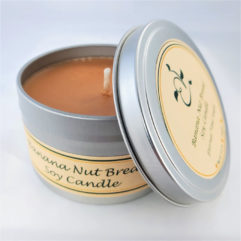 Banana Nut Bread Soy Candle Open