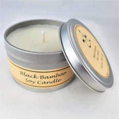 Black Bamboo Soy Candle Open