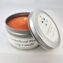 Caramelized Pralines Soy Candle Open