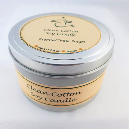 Clean Cotton Soy Candle Closed