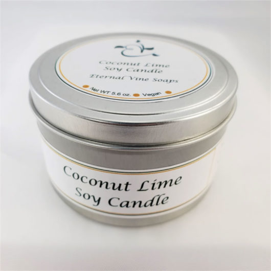 Coconut Lime Soy Candle Closed