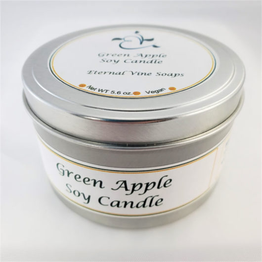 Green Apple Soy Candle Closed