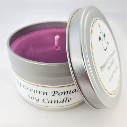 Peppercorn and Pomander Soy Candle Open