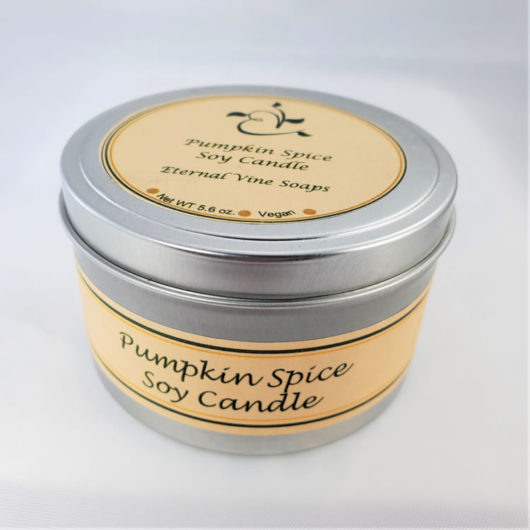 Pumpkin Spice Soy Candle Closed