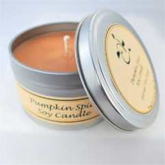 Pumpkins Spice Soy Candle Open
