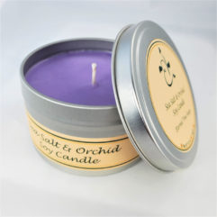 Sea Salt and Orchid Soy Candle Open
