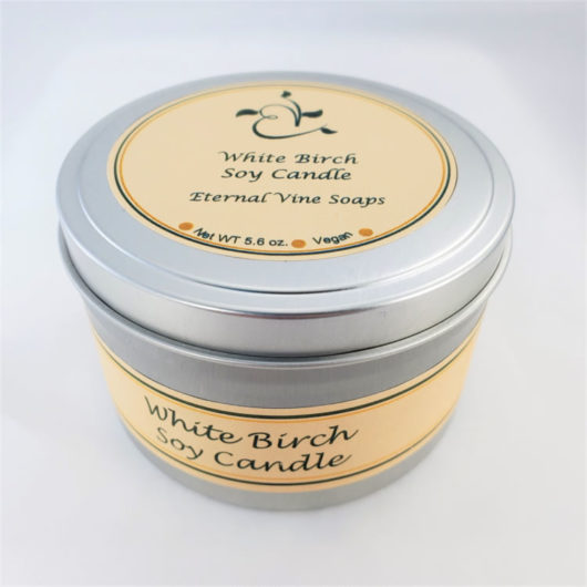 White Birch Soy Candle Closed