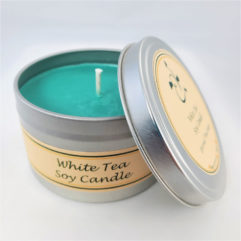 White Tea Soy Candle Open